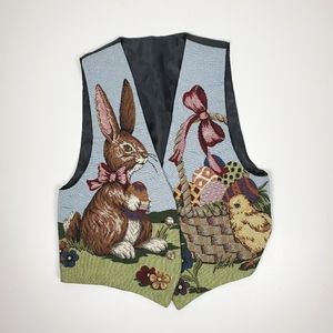 Jackets & Blazers - Easter tapestry vest